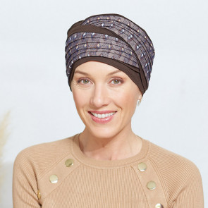 Turban chimio Belize marron - Comptoir de Vie