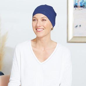 Turban chimio Dakota bleu - Comptoir de Vie