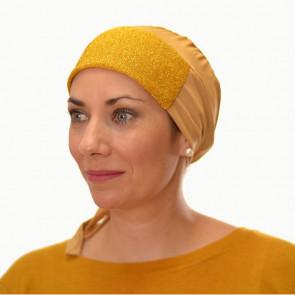 Bandana préformé pailleté - couleur dorée