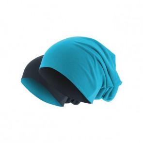 bonnet homme réversible turquoise/bleu marine - Masterdis