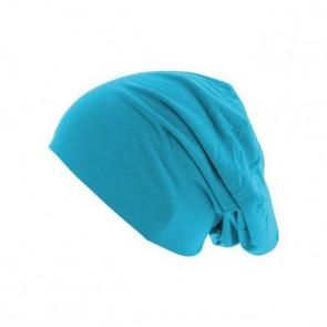 Bonnet homme Jersey réversible - Turquoise / Bleu marine - Masterdis