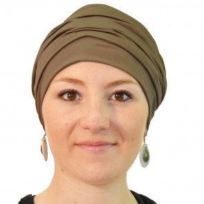 Bonnet de bain Iris marron - Look Hat Me