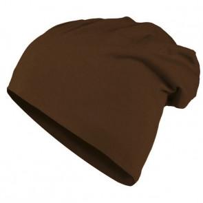 Bonnet homme Beanie en coton - Chocolat - Masterdis