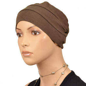Bonnet uni 3 coutures Marron
