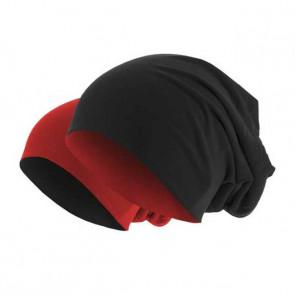 Bonnet homme Jersey réversible - Noir / Rouge - Masterdis