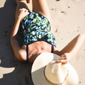 Maillot de bain une pièce bandeau àmotif pour prothèse mammaire - Cache Cache - Garance Paris