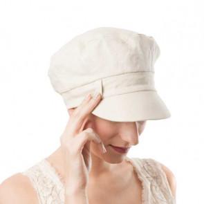 Casquette Gavroche lin beige - MM Paris