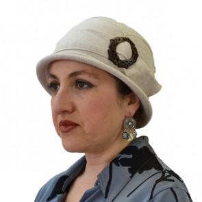 Chapeau Carla beige en coton - IDHATS