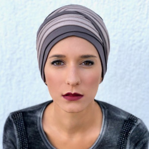 Turban Doris taupe/pailleté - MM Paris