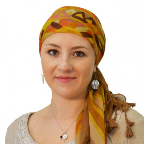 Foulard carré ETHNIC Marron Clair
