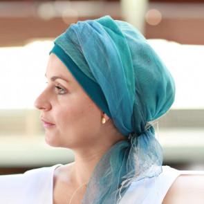 Foulard chimio Sophia turquoise