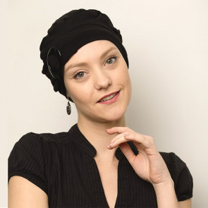 Turban chimio Jules noir - MM Paris