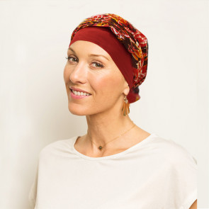 Turban chimio Mano Fantaisie rouge - Look Hat Me