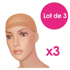 Lot de 3 bonnets sous perruque - Gisela Mayer