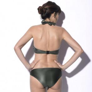 Maillot de bain deux pièces pour prothèse mammaire - Roxanne Kaki - Marli Paris