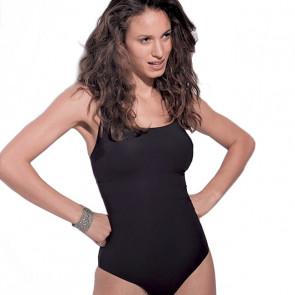 Maillot de bain une pièce pour prothèse mammaire - New Liberty Noir- Marli Paris