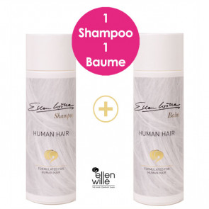Pack soin perruque cheveux naturels : 1 shampoing + 1 baume - Ellen Wille