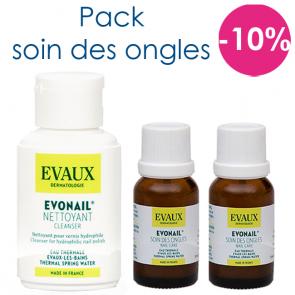 Pack soin des ongles : 2 Evonail et un Evoskin nettoyant