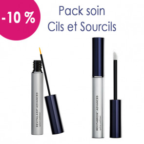 Pack soin cils sourcils : 1 Revitalash et 1 Revitabrow