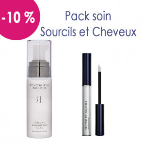 Pack soin sourcils et cheveux : 1 Revitabrow et 1 Hair by Revitalash