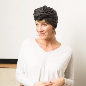 Turban Sonia gris - Comptoir de Vie