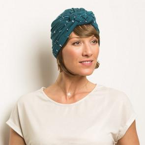 Turban Sonia turquoise Comptoir de Vie