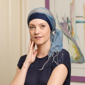 Foulard Sophia bleu - Look Hat Me