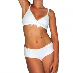 Soutien-gorge Camille blanc en coton bio - Coeur de Lys