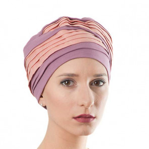 Turban Doris en Lin - vieux rose - MM Paris