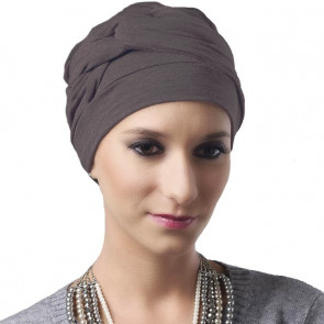 Turban Adèle taupe - MM Paris