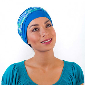 Turban Doris dalia bleu - MM Paris