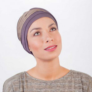 Turban Doris en Lin - Marron/Beige - MM Paris