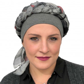 Foulard Sharone - Gris/Bordeaux - MM Paris