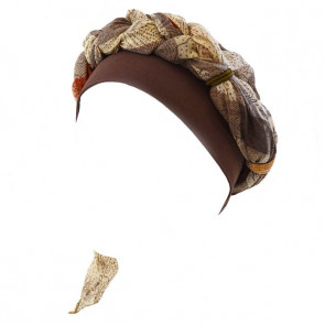 Foulard Sharone - Marron/Beige - MM Paris