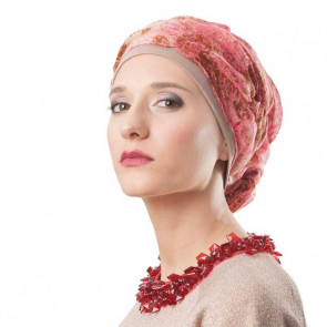 Foulard Suzanne - MM Paris / Galerie des turbans-Marbré rose