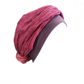Turban chimio Mano marron et bleu - Look Hat Me