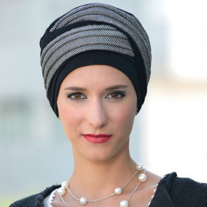 Turban Doris noir/gris chiné - MM Paris