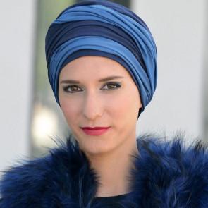 Foulard à nouer Leslie bleu/marine - MM Paris