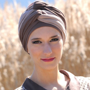 Turban Leslie choco/beige - MM Paris
