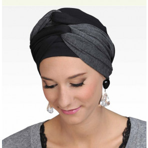 Turban Leslie noir/gris - MM Paris