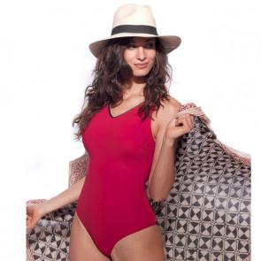 Maillot de bain une pièce pour prothèse mammaire - Venus Rouge - Marli Paris