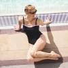 Maillot de bain une pièce bandeau pour prothèse mammaire - Double Je - noir - Garance Paris