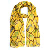 Foulard chimio à nouer jaune Girafes et feuillages