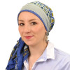 Foulard carré chimio Arabica - Bleu