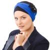 Foulard à nouer Kenaya Noir bleu roi - Chapilie - NJ Création