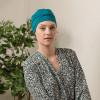 Turban en bambou Tulipe turquoise - Comptoir de Vie