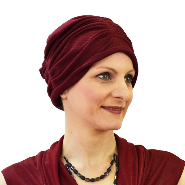 turban mina bordeaux
