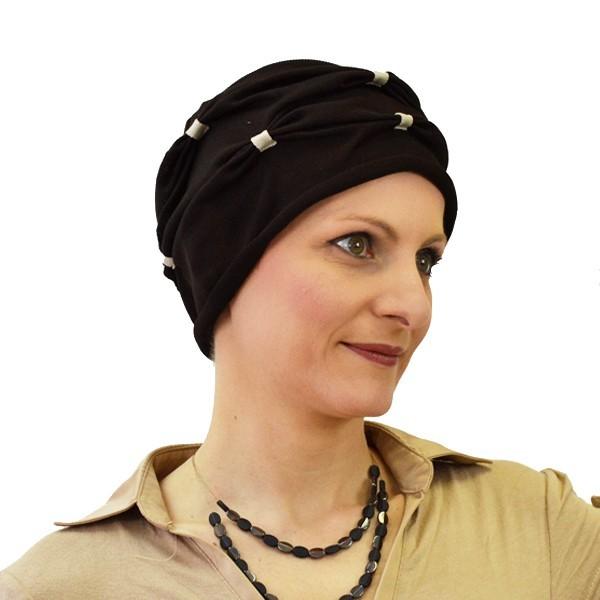 turban notte à plis café
