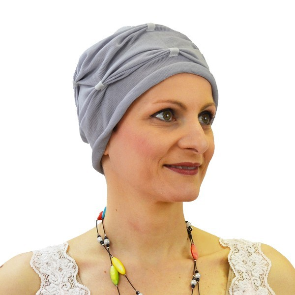 Turban Notte à plis perle